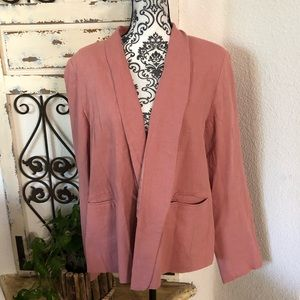 ASOS pinkish coral blazer with pockets